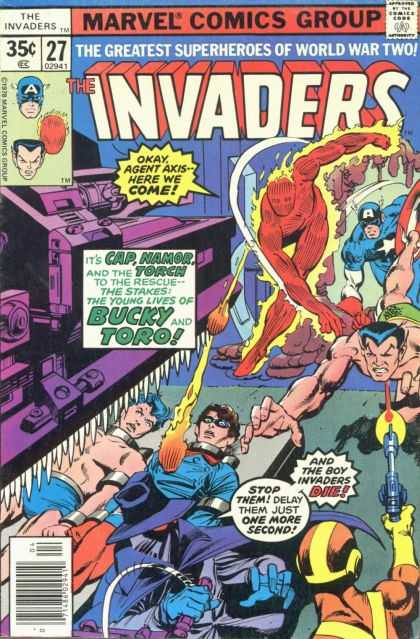 Invaders 27 - Captain America - Human Torch - World War Ii - Namor - Agent Axis
