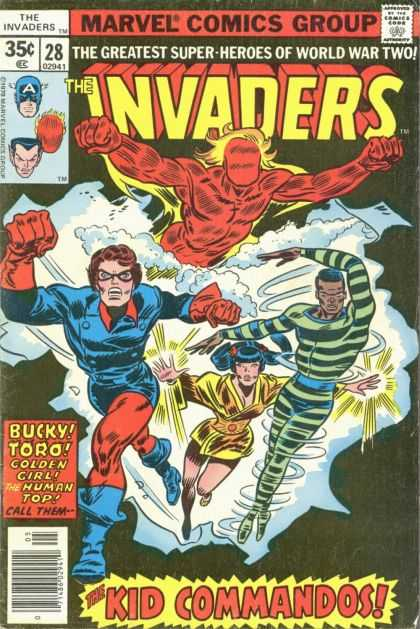 Invaders 28 - Bucky - Toro - Golden Girl - The Human Top - The Kid Commandos