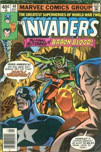 Invaders 40 - Marvel Comics Group - The Final Blitzkrieg - Baron Blood - Miss America - Captain America - Dave Cockrum