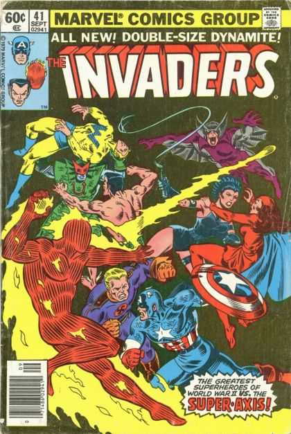 Invaders 41 - Another Gang Fight - Double-size - Captain America - Kickin Ass For America - Kill Kill Kill