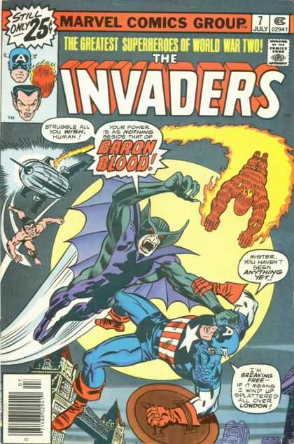 Invaders 7 - The Greatest Superheroes Of World War Two - Baron Blood - Strugle All You Wish Human - Have Not Seen Anything Yet - Spiderman - Jack Kirby