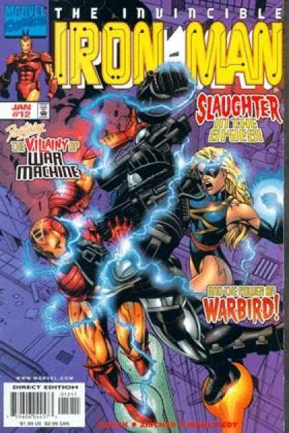Iron Man (1998) 12 - Marvel Comics - Invincible - Slaughter - Warbird - Direct Edition - Sean Chen