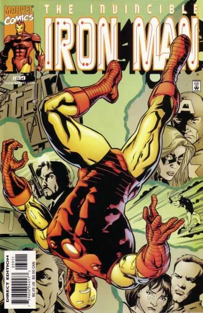 Iron Man (1998) 39 - Marvel - Upside Down - Weapon - Woman - Invincible