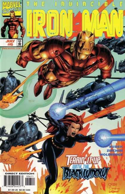 Iron Man (1998) 6 - Marvel Comics - Invincible - July 6 - Approved By The Comics Code - Blackwidow - Sean Chen