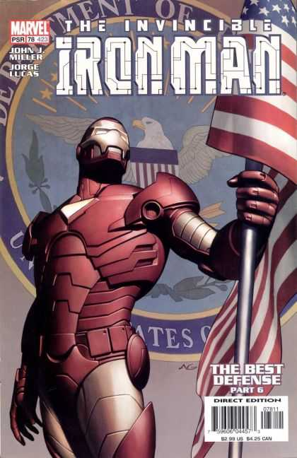 Iron Man (1998) 78 - Drunk - Red And Gold - Flag - Tony Stark - Stark Industries - Adi Granov