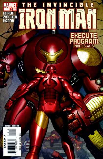 Iron Man (2005) 12 - Marvel - Knauf - Rated A - Superhero - Execute Program - Adi Granov