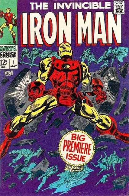 Iron Man 1 - The Invincible - Big Premiere Issue - 1 May - Indigo - Breaking - Gene Colan, Whilce Portacio