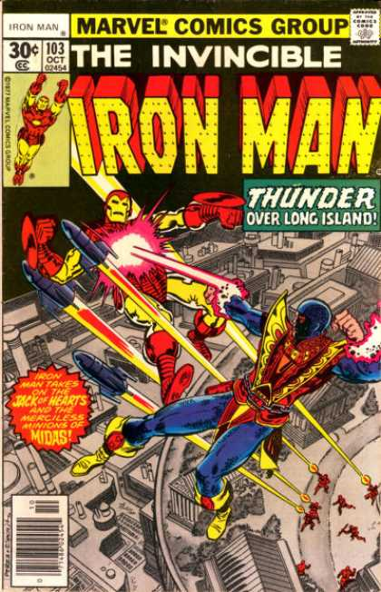 Iron Man 103 - Fighting - Flying - Missles - Fire - Attack - George Perez