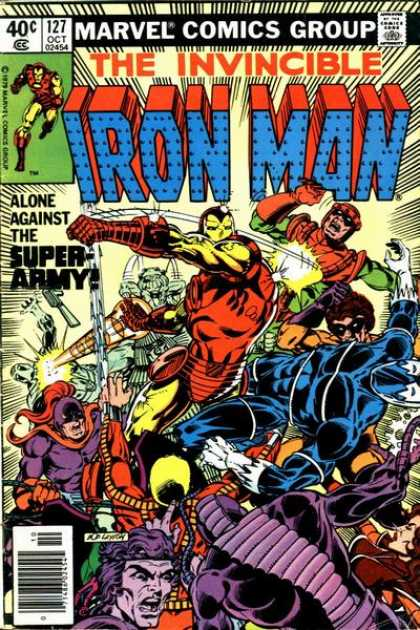 Iron Man 127 - Iron Man Saves The Day - Iron Man Fights The Army - Tony Hawk At It Again - Bodies Upon Bodies - Is This The End - Bob Layton