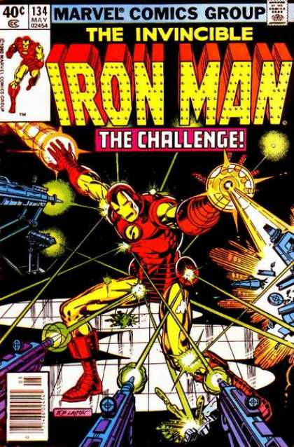 Iron Man 134 - Issue 134 May 02454 - The Challenge - The Invincible - Lasers - Guns - Bob Layton