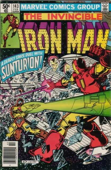 Iron Man 143 - Deadly Space Duel - Fighting - Superheroe - Lazer Beam - Costumes - Bob Layton