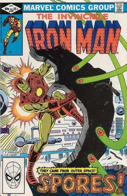 Iron Man 157 - Marvel Comics - Spiderman - Spores - Outer Space - Fire - Bob Layton
