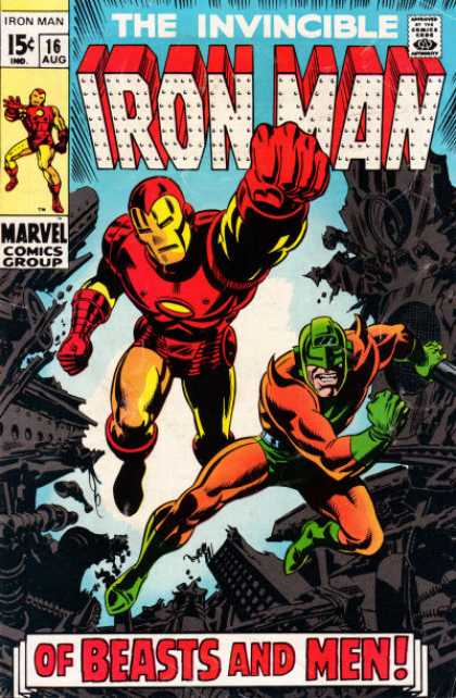 Iron Man 16 - Invincible - Red - Blue - Yellow - Rocks