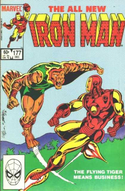 Iron Man 177 - Flying Tiger - Boot Rockets - Battle - Sky - Green Clothes