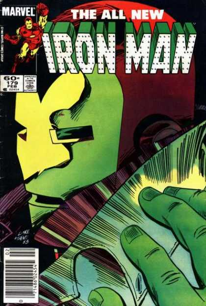 Iron Man 179 - The All New - Marvel - Metal Mask - Green Fingers - Flying Man