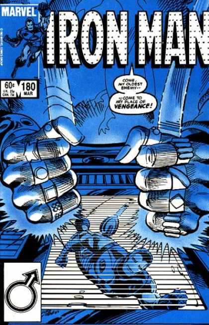 Iron Man 180 - Rings On Fingers - Escaping - Blue Cover - Chased - Two Fists