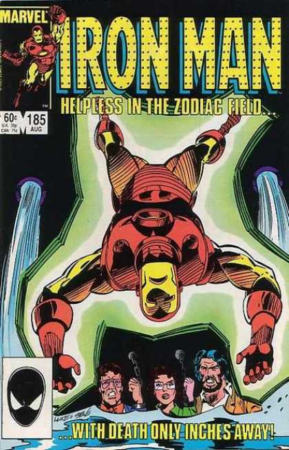 Iron Man 185 - Helpless In Zodiac Field - Issue Number 185 - Death Only Inches Away - Upside Down Ironman - August Issue 60