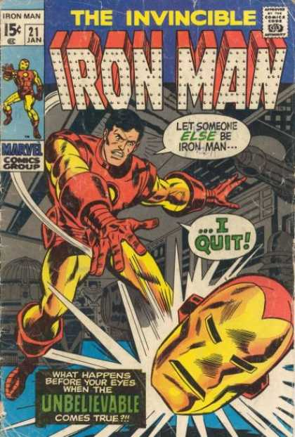 Iron Man 21 - Without The Mask - Power On - Ironman Quits - Never Again - Never Quit