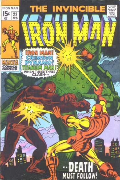 Iron Man 22 - Crimson - Dynamo - Titanium Man - Battle - Death Must Follow