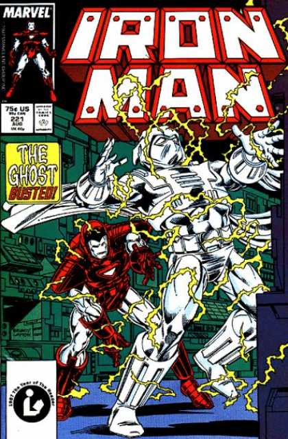 Iron Man 221 - The Ghost - Electified - Computers - Busted - Fighting - Bob Layton
