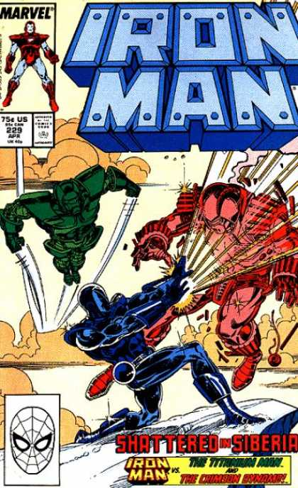 Iron Man 229 - Marvel - Apr - Approved By The Comics Code Authority - Sword - Fight