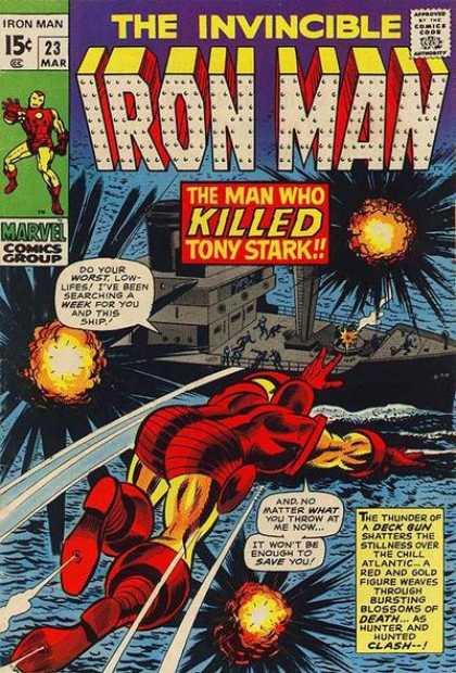 Iron Man 23 - Tony Stark - Explosions - Deck Gun - Boat - Water