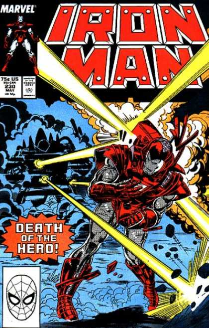Iron Man 230 - Marvel - 230 May - 75c Us - Death Of The Hero