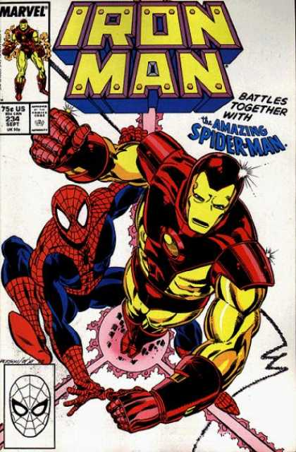 Iron Man 234 - Marvel - Superhero - Spider-man - Blast - Approved By The Comics Code - Bob Layton