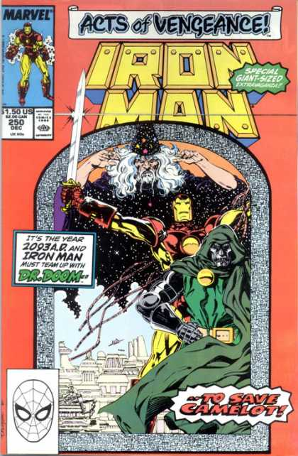 Iron Man 250 - Acts Of Vengeance - Wizard - Sword - Dr Doom - To Save Camelot - Bob Layton