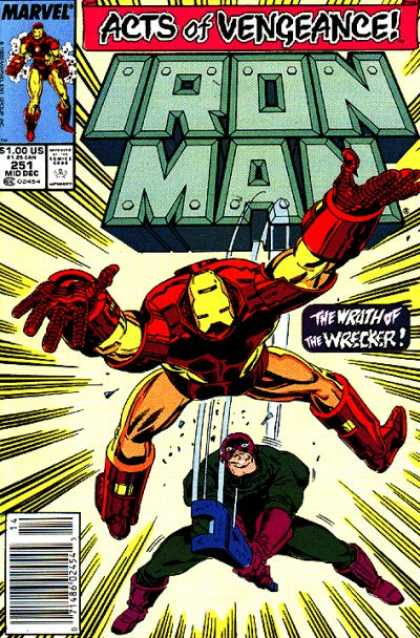 Iron Man 251 - Wrath - Vengeance - Wrecker - Hit - Falling