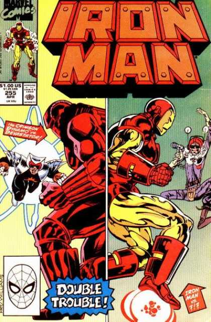 Iron Man 255 - 255 Apr - Crimson Dynamo - Double Trouble - Gun - Arrow - James Fry