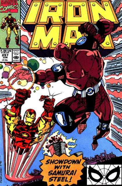 Iron Man 257 - Showdown - Samurai Steel - Battle - Flying - City