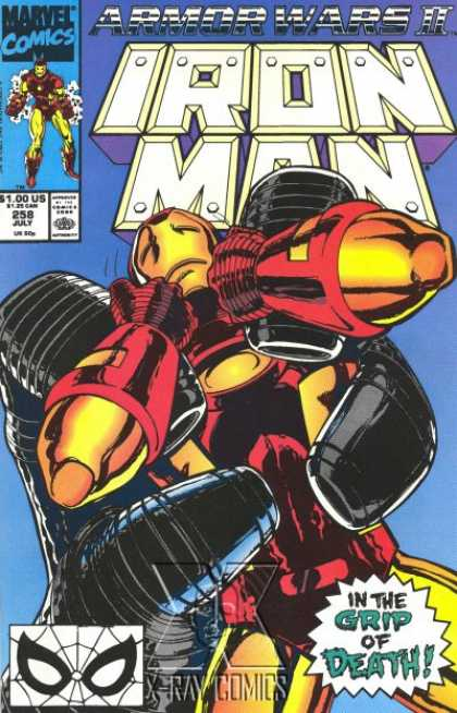 Iron Man 258 - Marvel Comics - Superhero - Approved By The Comics Code - Grip Of Death - Hand