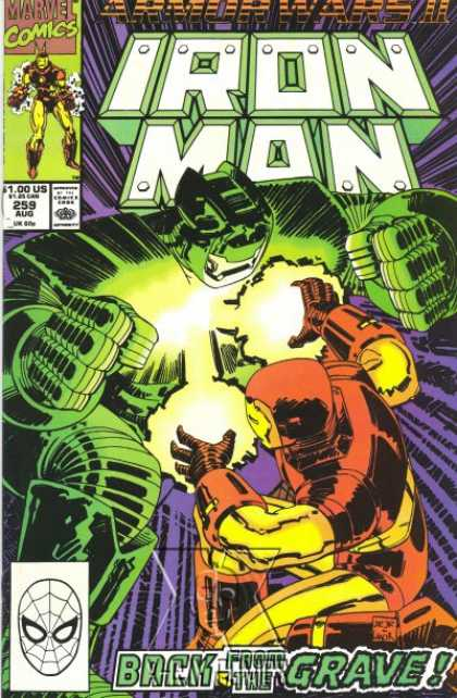 Iron Man 259 - Iron - Fight - Green - Huge - Spiderman - John Romita