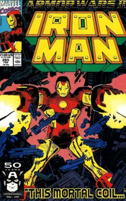 Iron Man 265 - Marvel Comics - Armor Wars Ii - Captain America - This Mortal Coil - Machine Guns - Bob Wiacek, John Romita