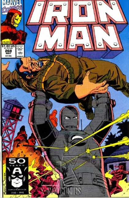 Iron Man 268 - Robot - Marvel - Comic - Fire - War - Bob Wiacek, Paul Ryan