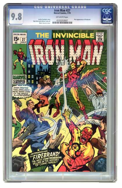 Iron Man 27 - Fighting - Fireball - Man - Wall - Building