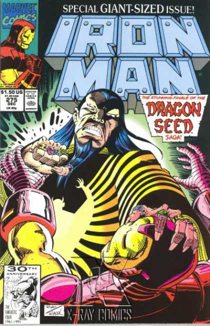 Iron Man 275 - Marvel Comics - Special Giant-sized Issue - Approved By Comics Code - Dragon Seed - X-ray Comics - Bob Wiacek, Paul Ryan