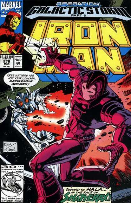 Iron Man 278 - Shatterax - Operation Galactic Storm - Part 6 - Space - Avenger - Bob Wiacek, Paul Ryan