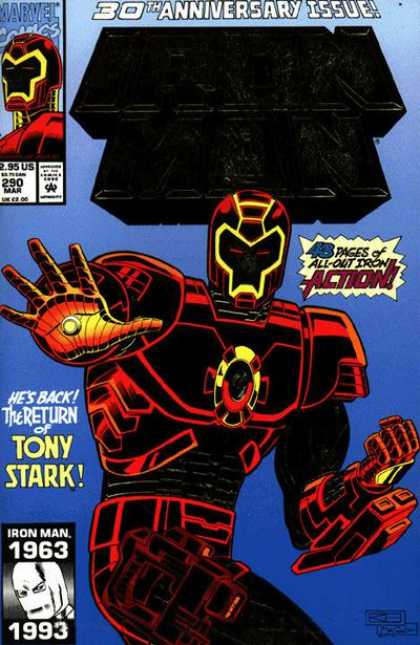 Iron Man 290 - Hes Back - The Return Of Tony Stark - 30th Anniversary Issue - Action - Marvel