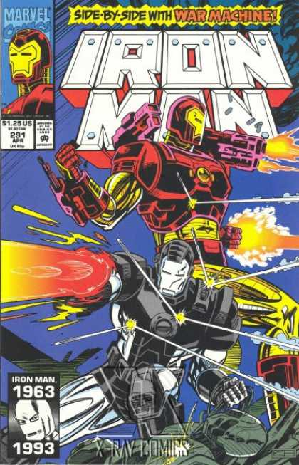 Iron Man 291 - War Machine - Iron Man - Fighting - Blasting - Fire