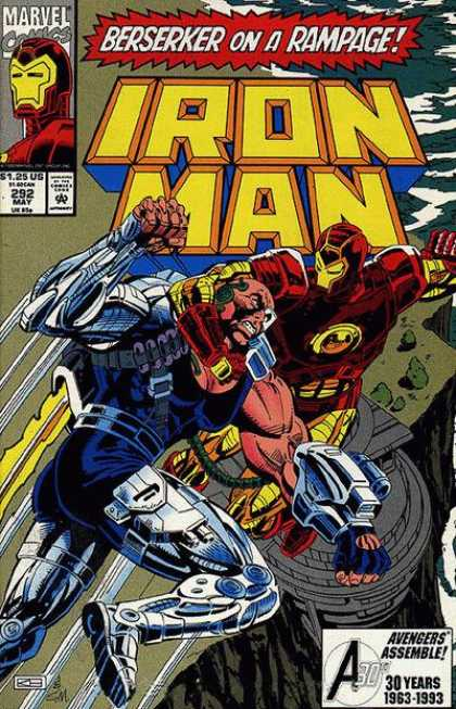 Iron Man 292 - Marvel - May - Berserker - Rampage - Fist Fight