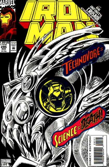Iron Man 295 - Iron Man Reflection - Mechanical Allen - Infinity Crossover - August Issue - Multiple Eyes