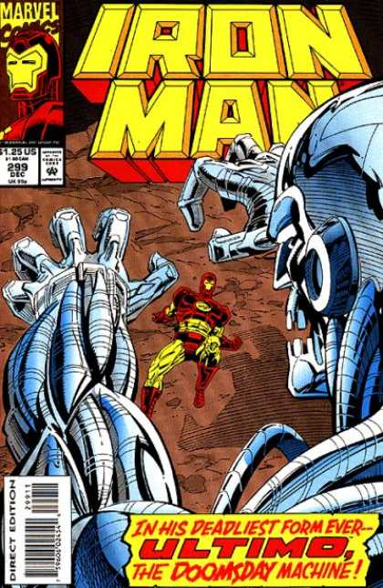 Iron Man 299 - Marvel Comics - Superhero - Approved By Comics Code - Robot - Direct Edition