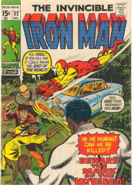 Iron Man 32 - Speech Bubbles - Car - African Americans - Marvel - December