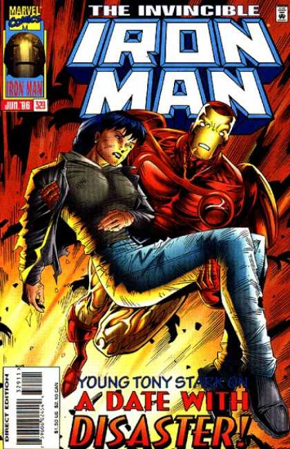 Iron Man 329 - The Invincible - Fire - Girl - Tony Strak - Date - Jim Cheung