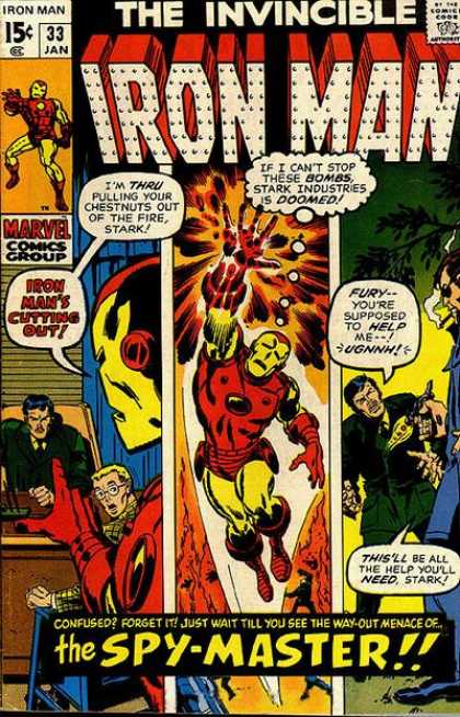 Iron Man 33 - The Invincibleble - Bombs - Stark - The Spy-master - Gun - Sal Buscema