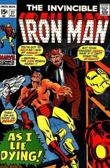 Iron Man 37 - May - Speech Bubble - Business Suit - 15 Cents - Armor - Sal Buscema