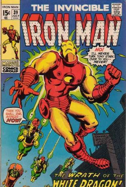 Iron Man 39 - The Invicible - Iron Man - 15cent - Now - Marvel