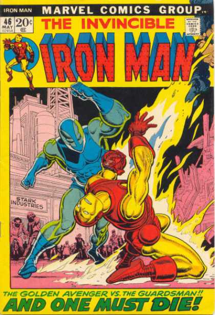 Iron Man 46 - Pink Building - Blue Smashing - Red - Yellow Gaurdsman Down - Industry